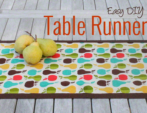 banded table runner