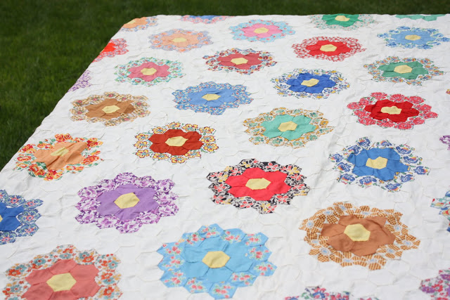 Antique Hexagon quilt
