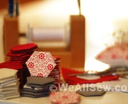 How to sew paper pieced hexagons