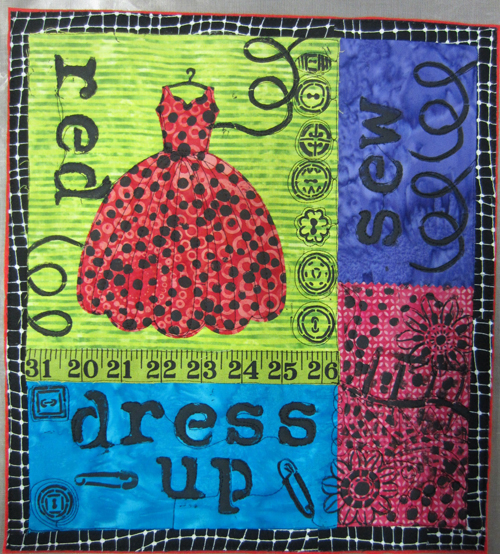 Red Dress Up Quilt - unfinished
