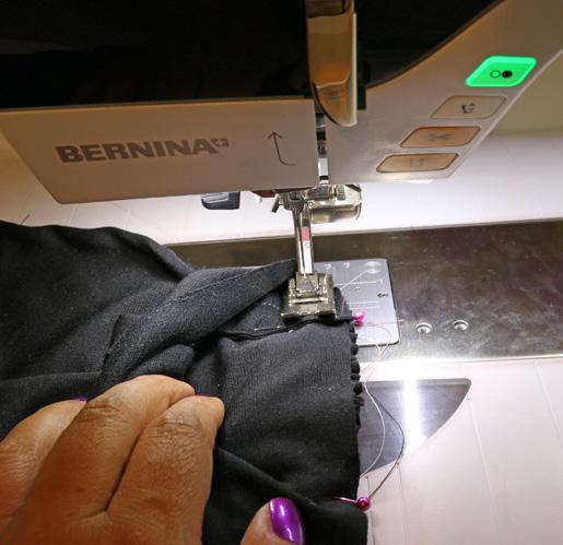 sew peplum to waistband