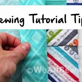 Tips for writing sewing tutorials