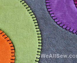 DIY Wool Applique Needle Book