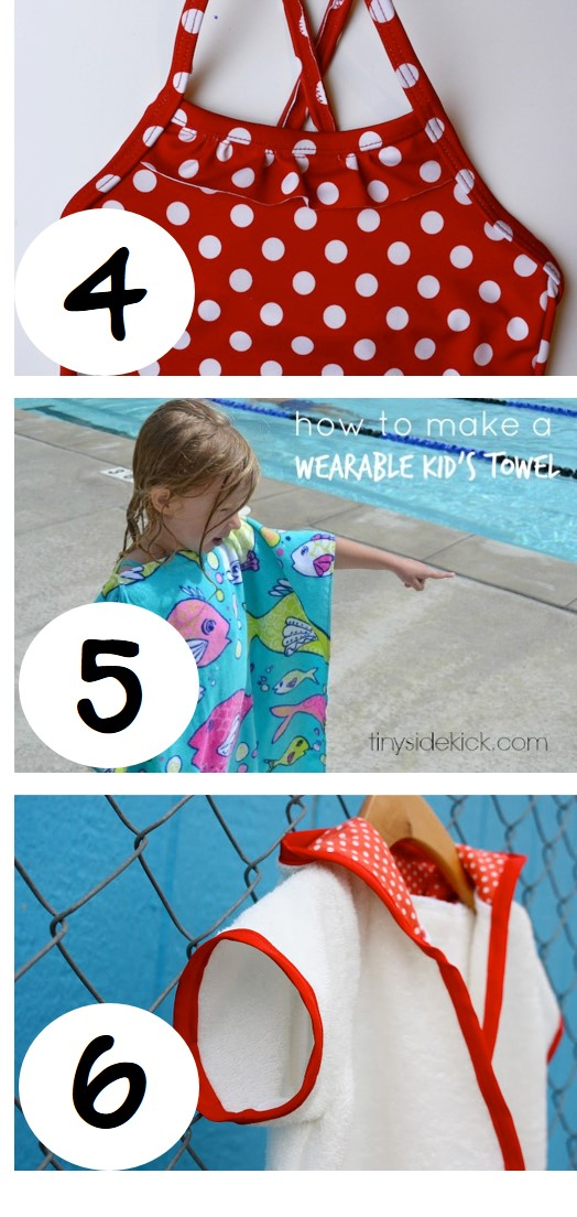 DIY kids swimwear