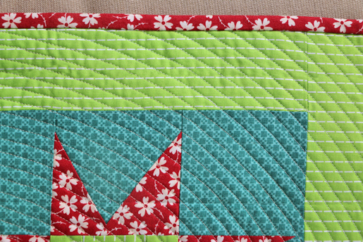 quilt sleeve - invisible on front