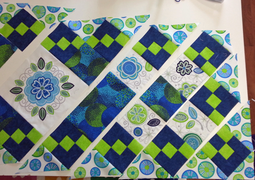 quilt piecing - rows