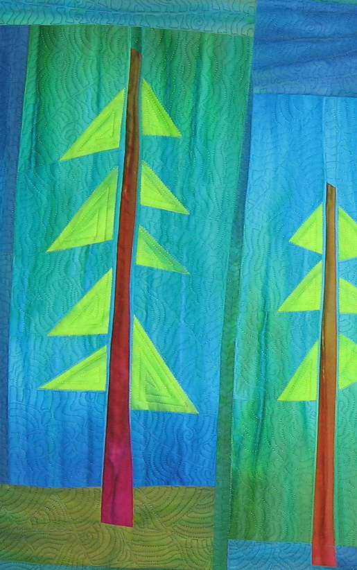 quilted pine tree