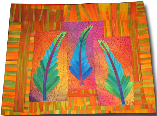 quilt of pine trees