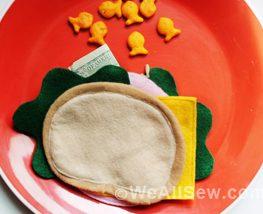 DIY Lunch Money Wallet Bologna Sandwich