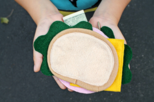 DIY Lunch Money Wallet Bologna Sandwich