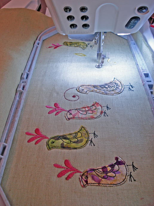applique on embroidery machine