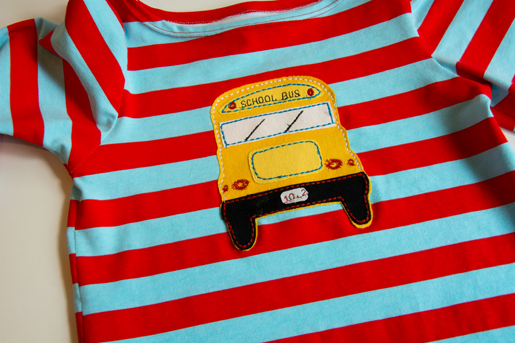 DIY Applique School Bus