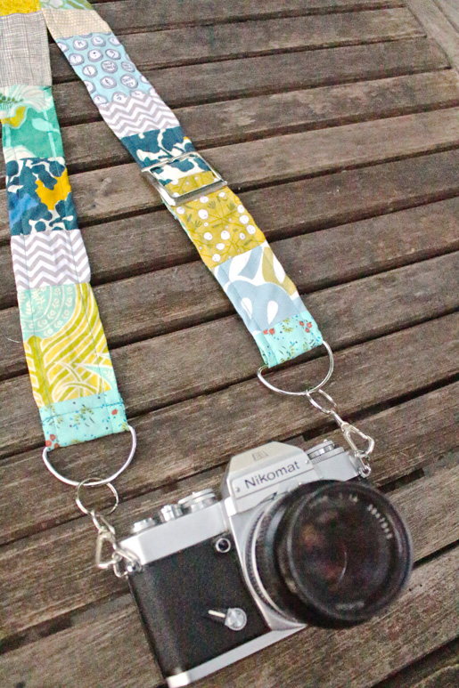 DIY Adjustable Patchwork Camera Strap
