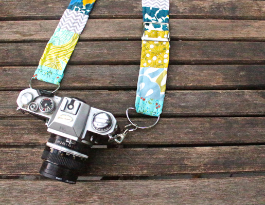 DIY Adjustable Patchwork Camera Strap