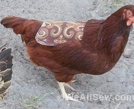 diy hen saddle