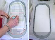 Jumbo embroidery hoop