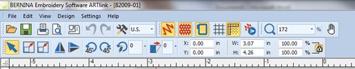 edit menu - embroidery software