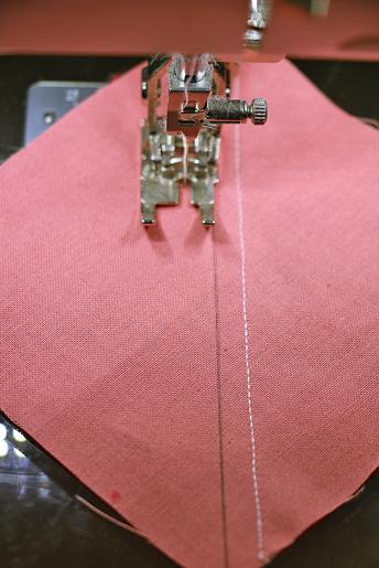 stitch next to line