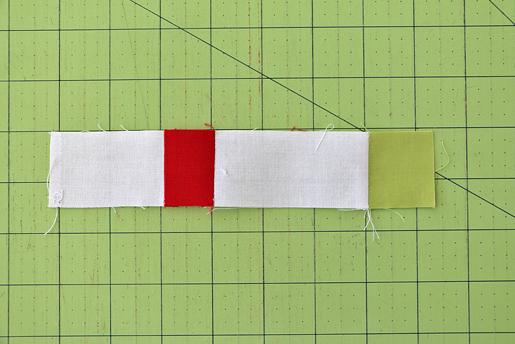 white-red-white strip