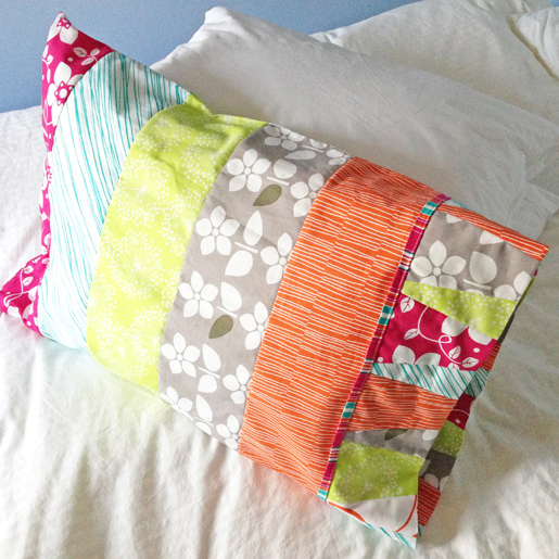 colorful pillowcase