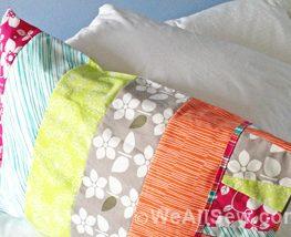 DIY Wedges Pillowcase - Free Tutorial