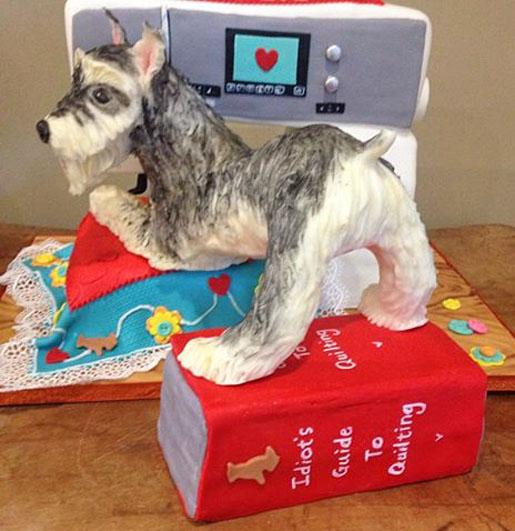 sewing machine and dog cake