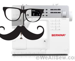 sewing machine with moustache