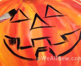 DIY Happy Jack Halloween Door Hanger