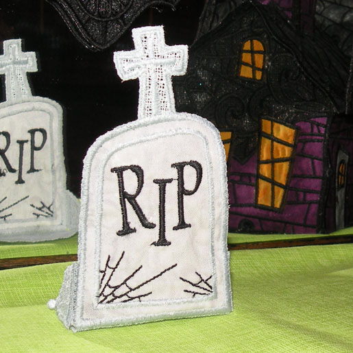 free-standing lace tombstone