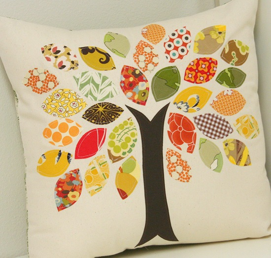DIY fall leaf pillow