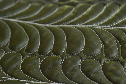 free-motion stitching on leather