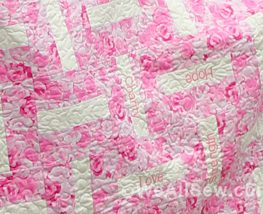 sew pink quilt