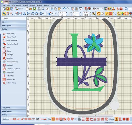 monogram, rectangle