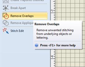 remove overlaps tool