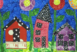 How To Make A Whimsy House Art Quilt Weallsew