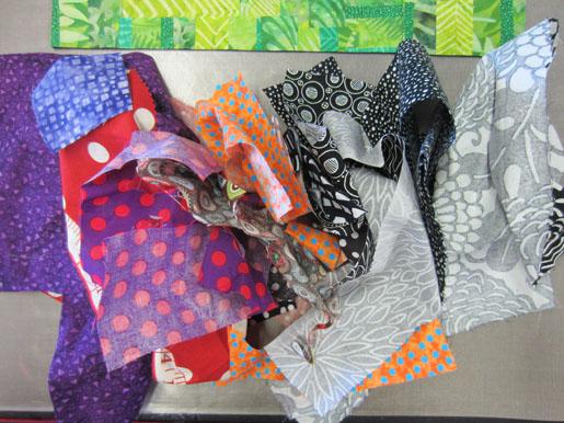 pre-fused fabric scraps