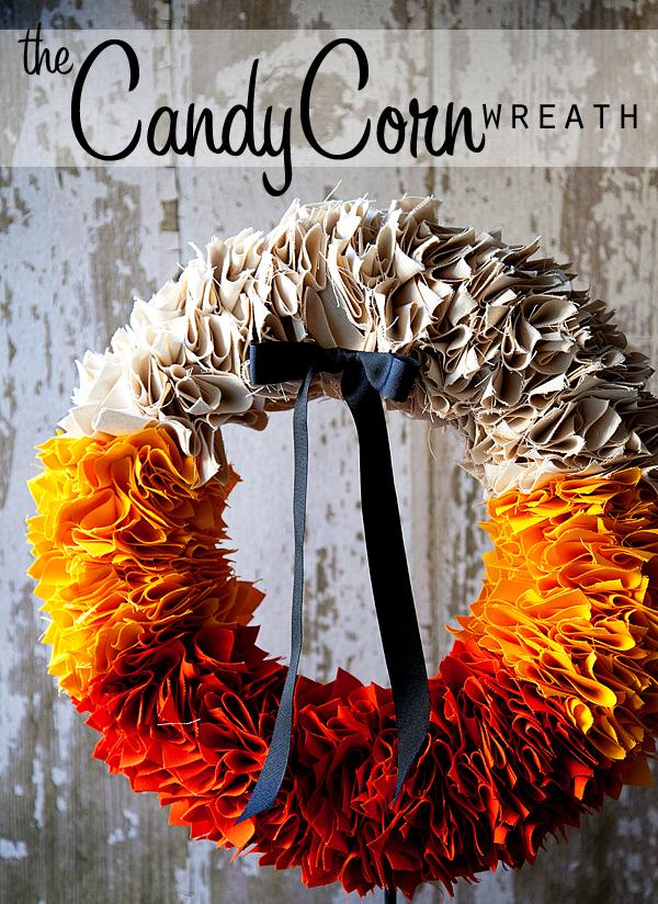DIY fabric fall wreath