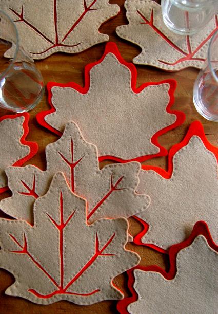 DIY fall leaf decorations
