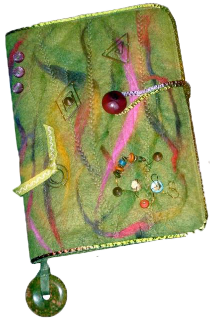 felted journa cover