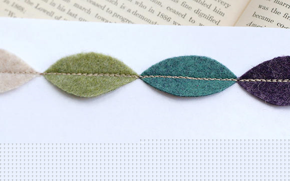 How to make a fabric leaf necklace