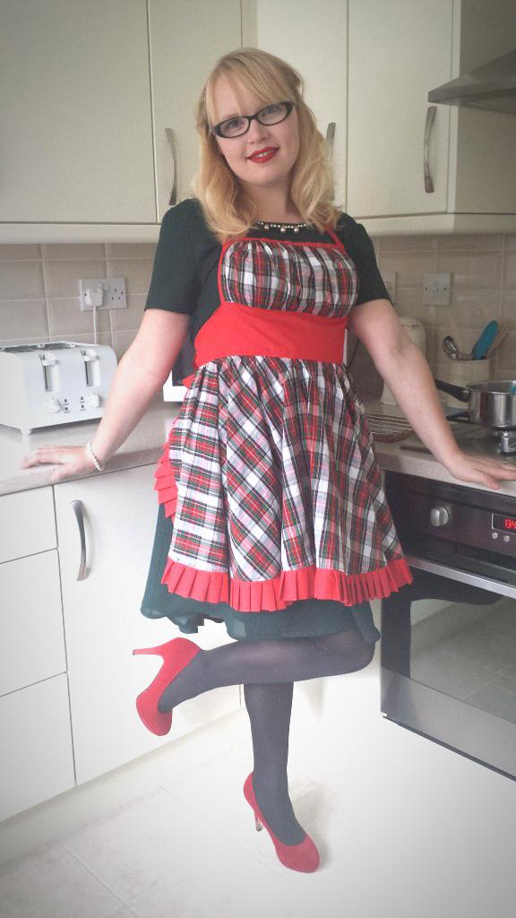 DIY festive Christmas apron