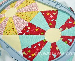Embroidered-Applique Center Circles
