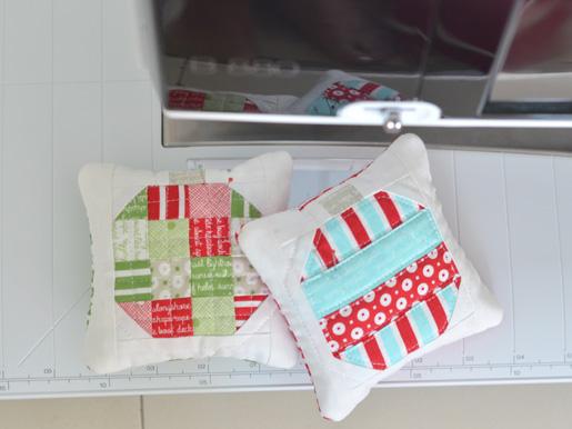 DIY Mini Holiday Ornament Pincushions