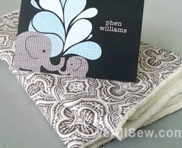 DIY Designer Burp Cloths
