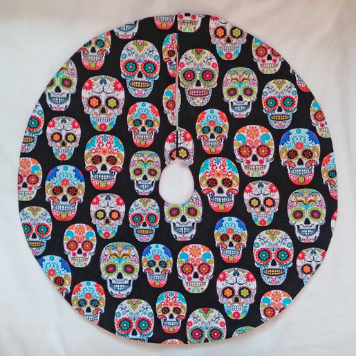 Day of the Dead tree skirt