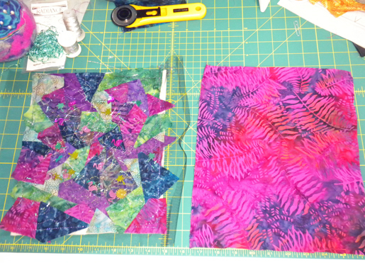 front and back quilted fabrics