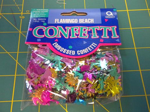 metallic confetti