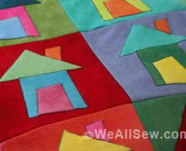 Little Houses All In A Row: DIY Wool Blanket