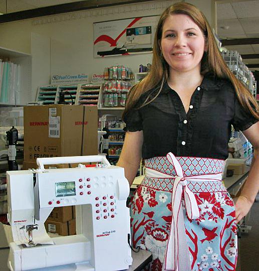 apron, sewing machine