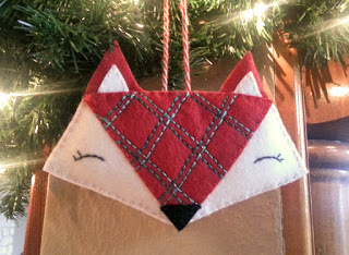 DIY fox ornament